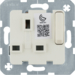53420212 13A insert for socket outlet white w/o L