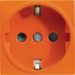 WS160E Systo Socket Schuko screwless Orange