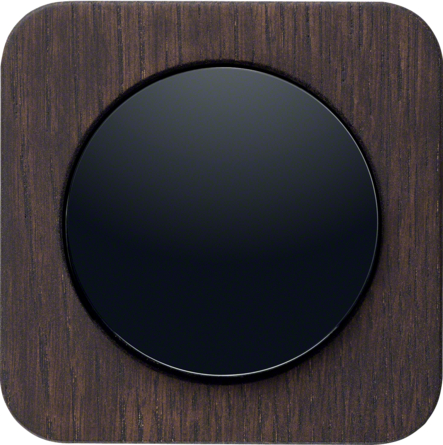 Berker R.1, Oak Wood Stained / Plastic Black Glossy