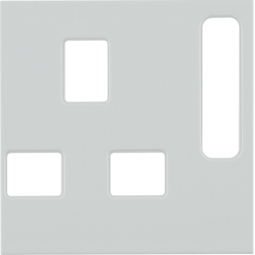 3313079909 BS Socket Coverplate Polar White Matt